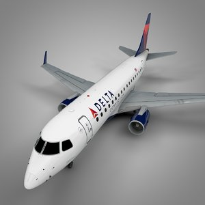 delta connection embraer170 l428 3D
