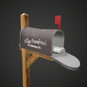 cartoon mailbox 3D model