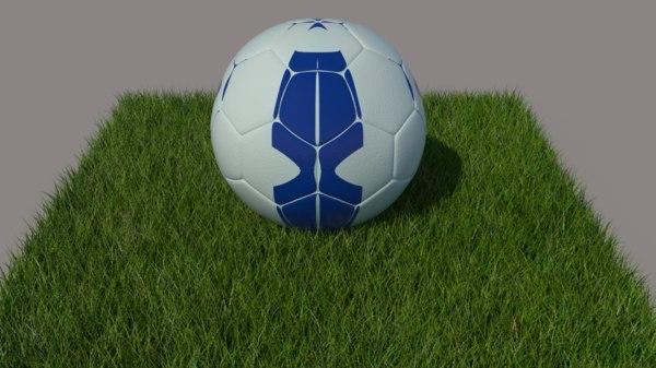 football 2019 2018 3D model