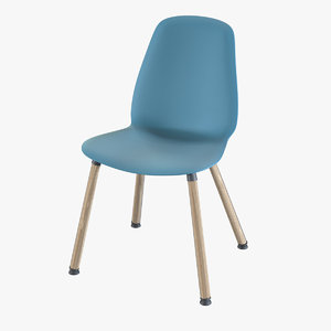 ikea leifarne wooden chair 3D model