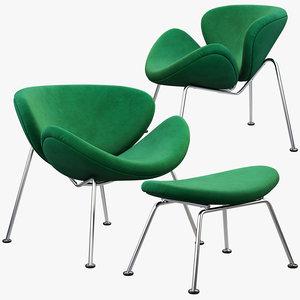 3D slice chair ottoman