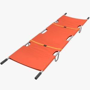 3D rolling stretcher model