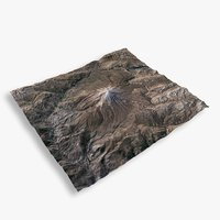 mountain damavand terrain 3D model