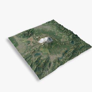 fuji mountain 3D model