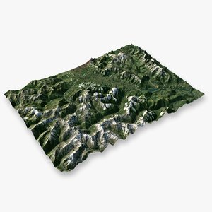 3D mountain alps - 3