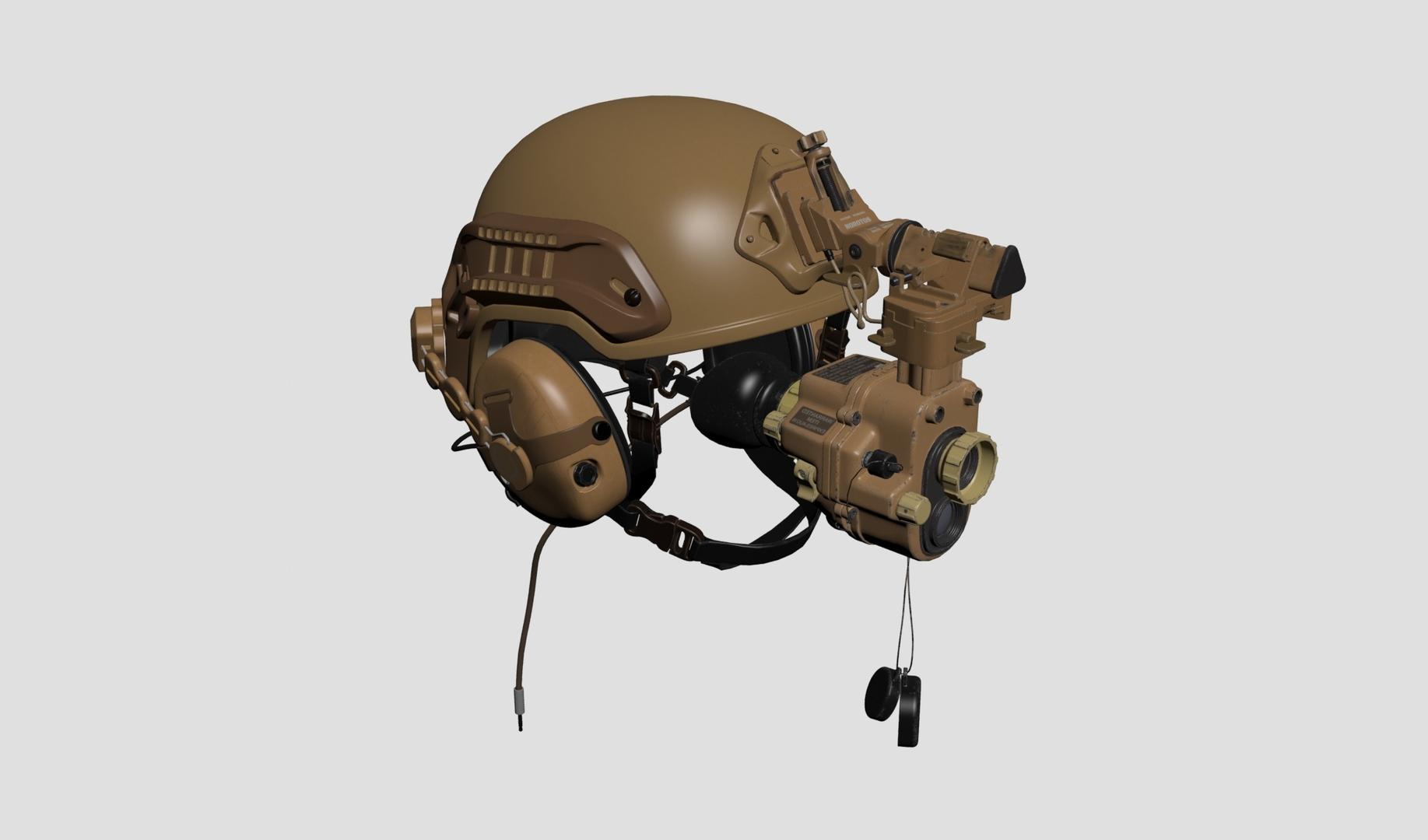 3D tactical helmet night vision model