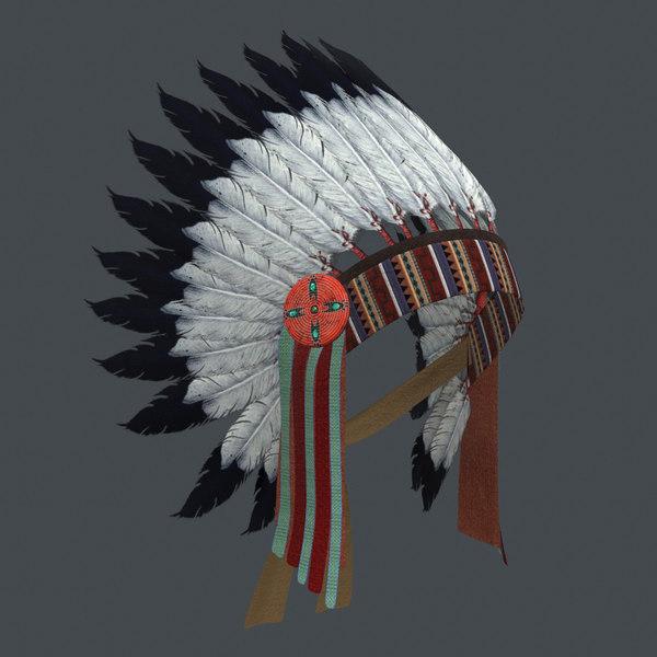 indian headdress 3D model