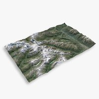3D mountain matterhorn large terrain