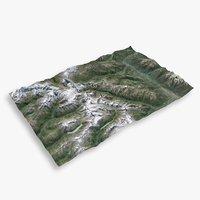 3D mountain matterhorn large terrain