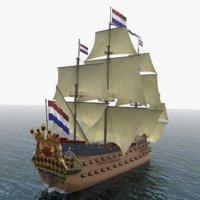 zeven provincin 3D model