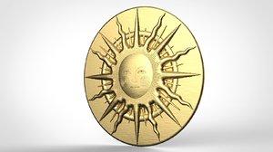 3D sun medieval model