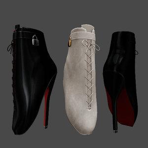 ballet heels 3D model