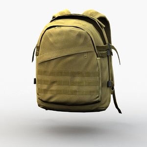 3D backpack rigged model