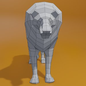 cartoon leon 3D