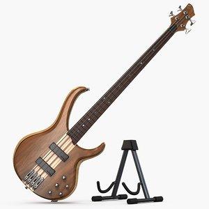 ibanez bass guitar 3D model