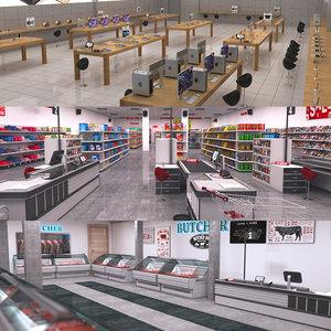retail stores shop 3D