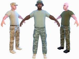 3D soldier 4k model