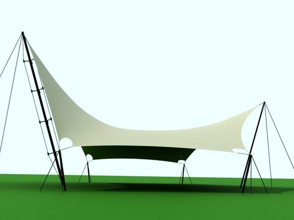 3D 6-angle shade sail