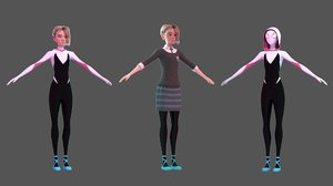 gwen stacy spider 3D model