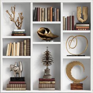 3D model set decor sculptures