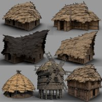 Medieval Village Collection - 7 Enterable Buildings
