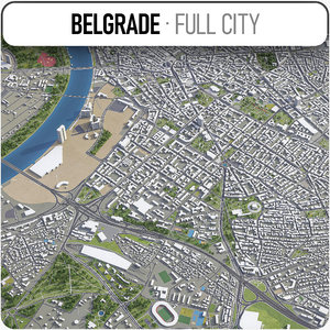 belgrade surrounding - 3D