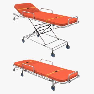 3D ambulance beds positions