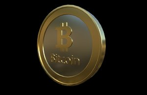 bitcoin cryptocurrency 3D model
