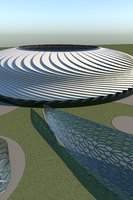 arena architectural stadium 3D model