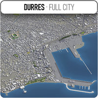 durres surrounding - 3D model