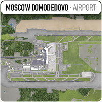3D model domodedovo moscow airport