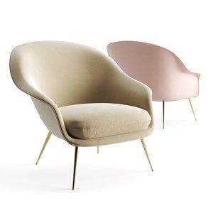 3D armchair chair furniture model