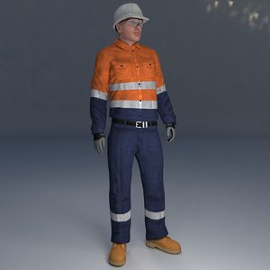 3D rigged safety man