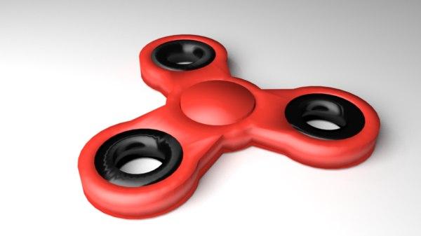 3D fidget spinner 1 model