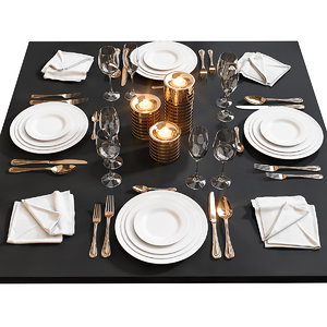 3D table setting 17