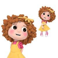 Girl curly hair