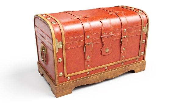 3D vintage old chest model