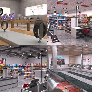 3D retail stores shop model