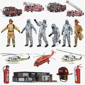 3D firefighters equipment 2