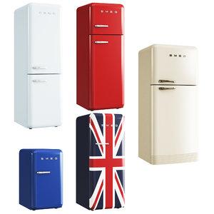 smeg fab refrigerators 3D model