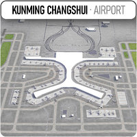 kunming changshui international airport model