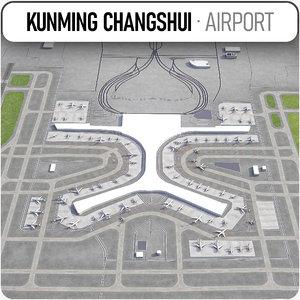 kunming changshui international airport model