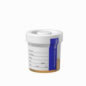 specimen cup urine model