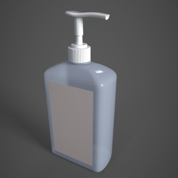 sanitizer bottle 3D model