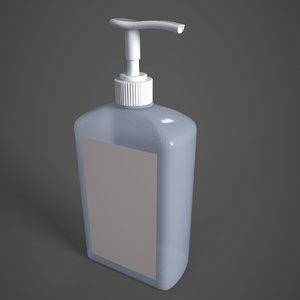 sanitizer bottle 3D model