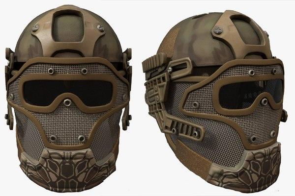 3D helmet character