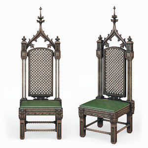throne gothic 3D model