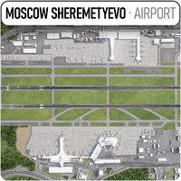 3D model sheremetyevo international airport -