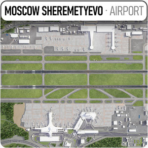 3D model sheremetyevo international airport -