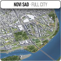 novi sad surrounding 3D